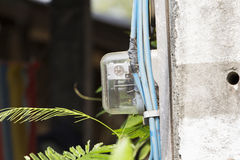 Low voltage Electric meter. Side view Royalty Free Stock Image
