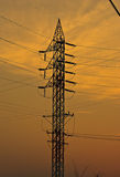 Low-voltage towers. A broken antenna from the transmission lines are high stock images