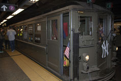 Low Voltage train stops at 42nd street headed to Yankee Stadium Stock Image