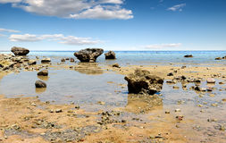 Low water on beach Royalty Free Stock Photos