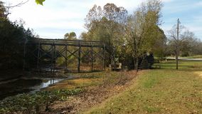 Low water Bridge Stock Image