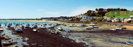 Low water by Gorey Harbour Royalty Free Stock Images