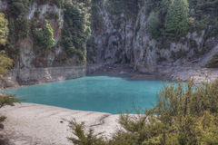 Low water level in Inferno Crater. GVP0716 Royalty Free Stock Photography
