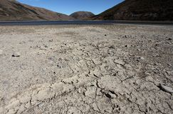 Low water level in the lake Stock Image