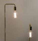 Low Watt Tunsgten Bulb. Low Watt Tungsten Bulbs With Brass Fittings Royalty Free Stock Image