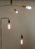 Low Watt Tunsgten Bulb. Low Watt Tungsten Bulbs With Brass Fittings Royalty Free Stock Images