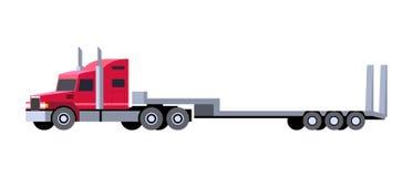 Lowboy trailer truck icon royalty free illustration