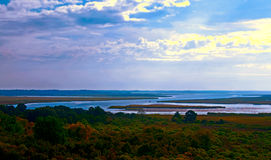 Lowcountry. A panoramic photograph of the lowcountry of South Carolina Stock Image