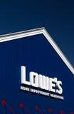 Lowe Domowego ulepszenia magazynu powierzchowność Zdjęcia Royalty Free