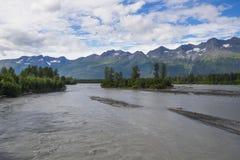 Lowe-Fluss in Valdez, Alaska Lizenzfreie Stockbilder