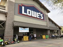Lowe s Home Improvement Store. Lowe`s is a U.S.-based chain of retail home improvement and appliance stores. This store is located in Gilbert Arizona Royalty Free Stock Image