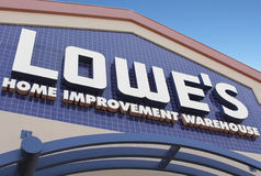 Lowe's Home Improvement Warehouse. Palm Springs, California, USA - March 19, 2011: The front facade of a Lowe's home improvement retail outlet. Lowe's Compaines Stock Image