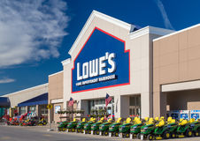 Lowe`s Home Improvment Warehouse Exterior. Royalty Free Stock Photography