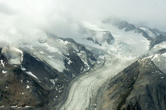 Lowell Glacier en parc national de Kluane, le Yukon Photo libre de droits