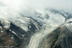 Lowell Glacier i den Kluane nationalparken, Yukon Royaltyfri Foto