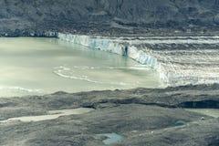 Lowell Glacier Ice Cliffs Kluane nationalpark, Yukon Arkivfoto