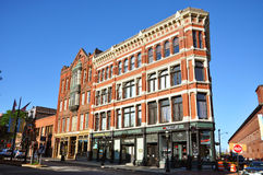 Lowell Historic Downtown, Massachusetts Royalty Free Stock Images