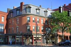 Lowell-historisches Stadtzentrum, Massachusetts lizenzfreies stockbild