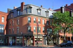 Lowell historisk byggnad, Massachusetts, USA royaltyfria bilder