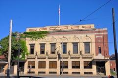 Lowell historisk byggnad, Massachusetts, USA arkivbilder