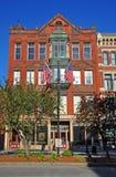 Lowell historisk byggnad, Massachusetts, USA royaltyfria foton