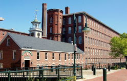 Lowell, MA: Boott Cotton Mills Museum. The Boott Cotton Mills Museum fashioned from one of the 19th century brick clothing factories in the Lowell, Massachusetts Stock Photos