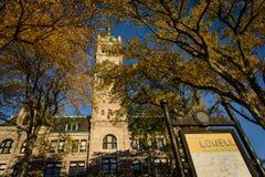 Lowell Massachusetts stadshus royaltyfri fotografi