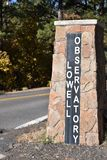 Lowell Observatory sign. The Lowell Observatory in Flagstaff Arizona is where Pluto was discovered