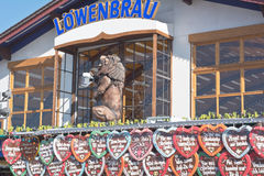 Lowenbrau Tent and Gingerbread Hearts Stock Photos
