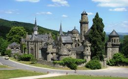 Lowenburg at Bergpark, Kassel, Germany. Lowenburg: A castle in a park, Kassel, Germany Stock Photo