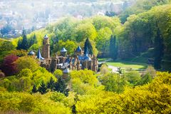 Lowenburg castle from above in the forest Royalty Free Stock Image