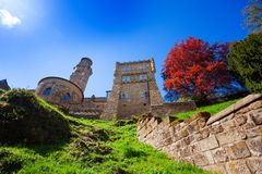 Lowenburg Lion castle in Bergpark at early spring Stock Images