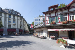 Lowenplatz square Lucern, Switzerland Stock Photo
