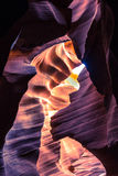 Lower Antelope Canyon. Deep in Page. This use to be a shoulder of Colorado River Royalty Free Stock Photo