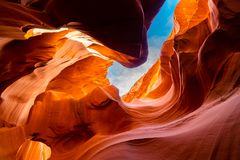 Lower Antelope Canyon. In the Navajo Reservation near Page, Arizona USA royalty free stock photo