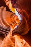 Lower Antelope Canyon. In the Navajo Reservation near Page, Arizona USA royalty free stock photos