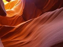 The lower Antelope Slot Canyon near Page  in  Arizona Royalty Free Stock Photography