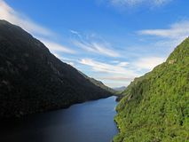 Lower Ausable Lake in the Adirondacks Mountains. Lower Ausable Lake at Ausable Club in the Adirondacks Mountains in upstate New York Royalty Free Stock Photography