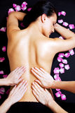 Lower Back Massage Royalty Free Stock Photography