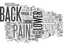 Is Lower Back Pain A Barrier To Your Fitness Routine Text Background  Word Cloud Concept Royalty Free Stock Images
