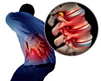 Lower Back Pain vector illustration