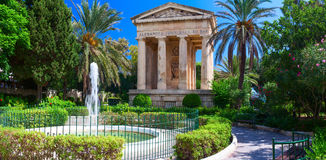 The Lower Barakka Gardens. Malta. The Lower Barakka Gardens is a garden in Valletta, and it is twinned with the Upper Barrakka Gardens. It offers a magnificent Stock Photography