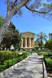 Lower Barracca Gardens in Valletta - Malta. Monument to Alexander Ball in the Lower Barracca Gardens in Valletta royalty free stock photography