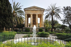 Lower Barrakka Gardens. Monument dedicated to  Alexander Ball in Lower Barrakka Gardens in Valletta, Malta Royalty Free Stock Photography