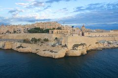 Lower Barrakka gardens - Valletta. Malta Royalty Free Stock Photo