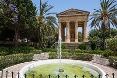 Lower Barrakka Gardens in Valletta. Valletta, Malta - 25 May 2015: picturesque view on Lower Barrakka Gardens in Valletta in Malta Stock Images