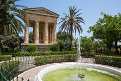 Lower Barrakka Gardens in Valletta. Picturesque view on Lower Barrakka Gardens in Valletta in Malta Stock Photos