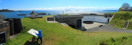 Lower Battery, Fort Rodd Hill National Historic Site Royalty Free Stock Image