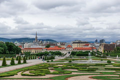 The Lower Belvedere and gardens in Vienna, Austria Royalty Free Stock Photo