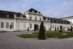 Lower Belvedere palace Stock Image